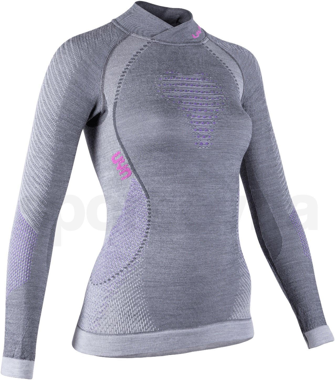 Funkční tričko Uyn Fusyon UW Shirt Long Sleeve W - šedá/růžová