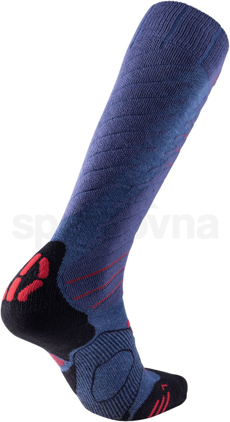 Ponožky Uyn Ski Comfort Fit M - šedá/červená