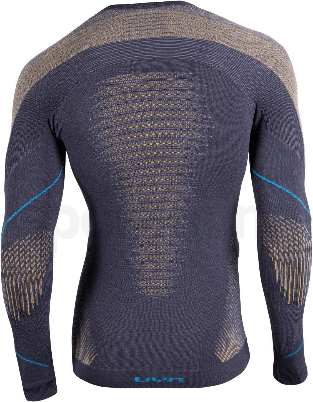 Funkční tričko Uyn Evolutyon UW Shirt Long Sleve - šedá/žlutá/modrá