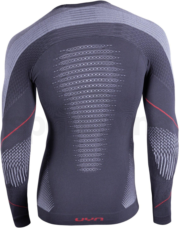 Funkční tričko Uyn Evolutyon UW Shirt Long Sleve - šedá/zelená/oranžová