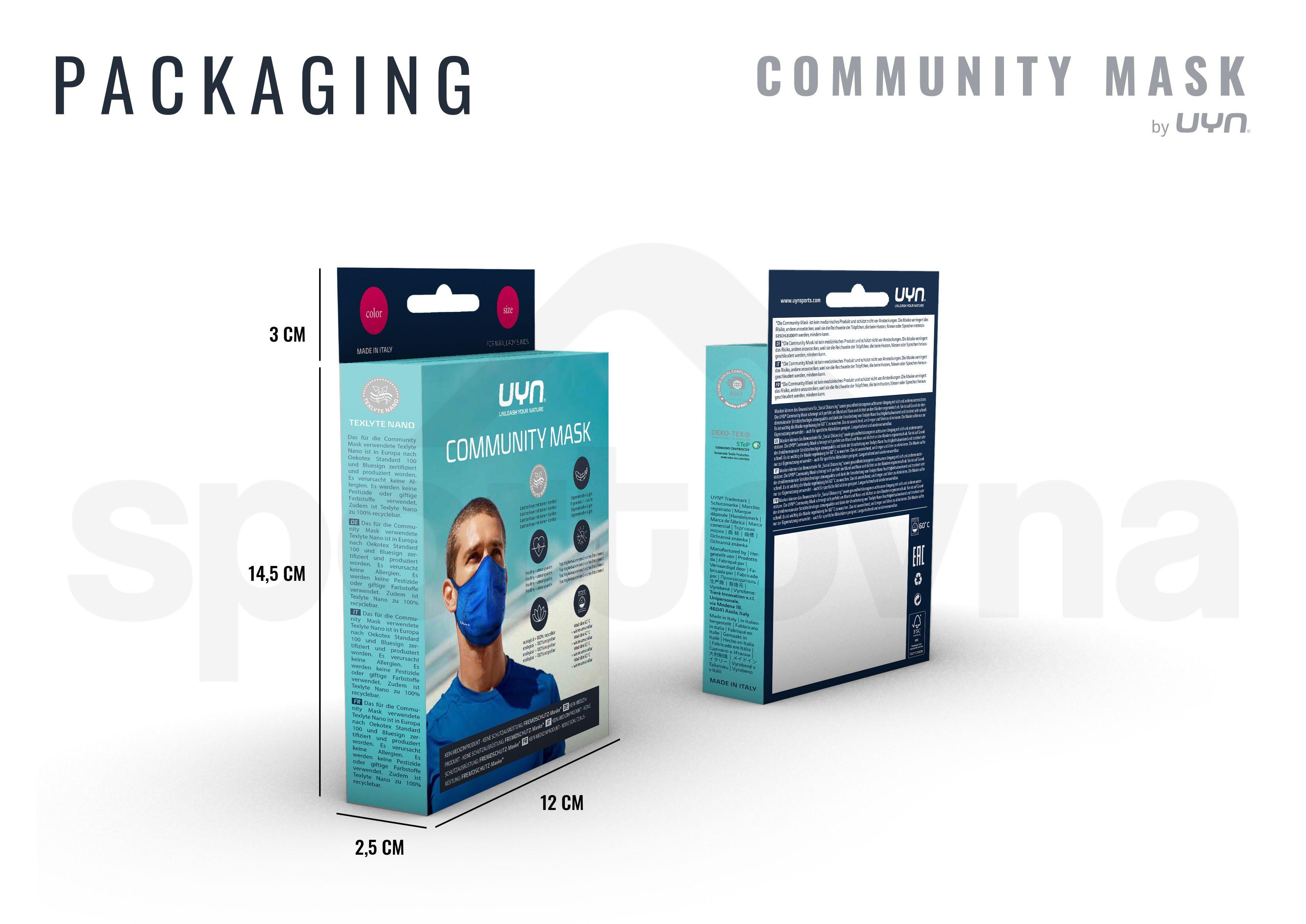 Dětská rouška UYN Community Mask - tyrkysová