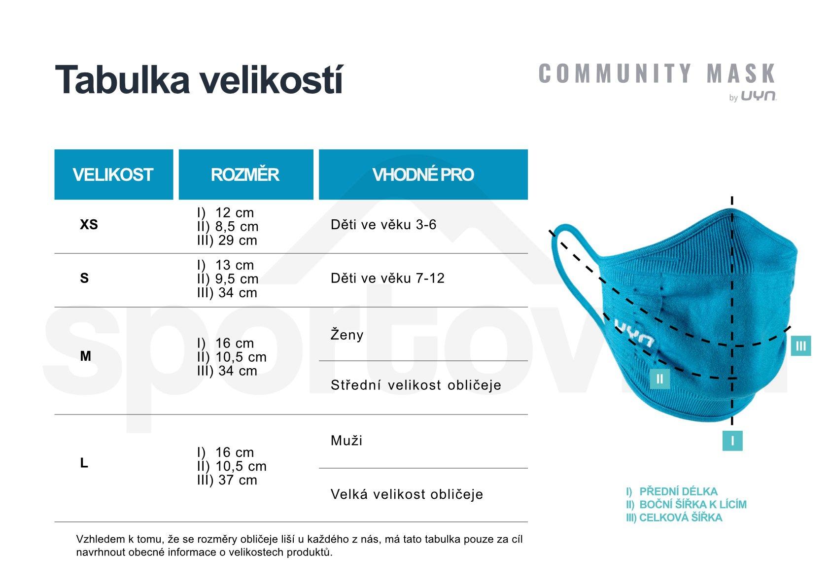 Rouška UYN Community Mask - růžová