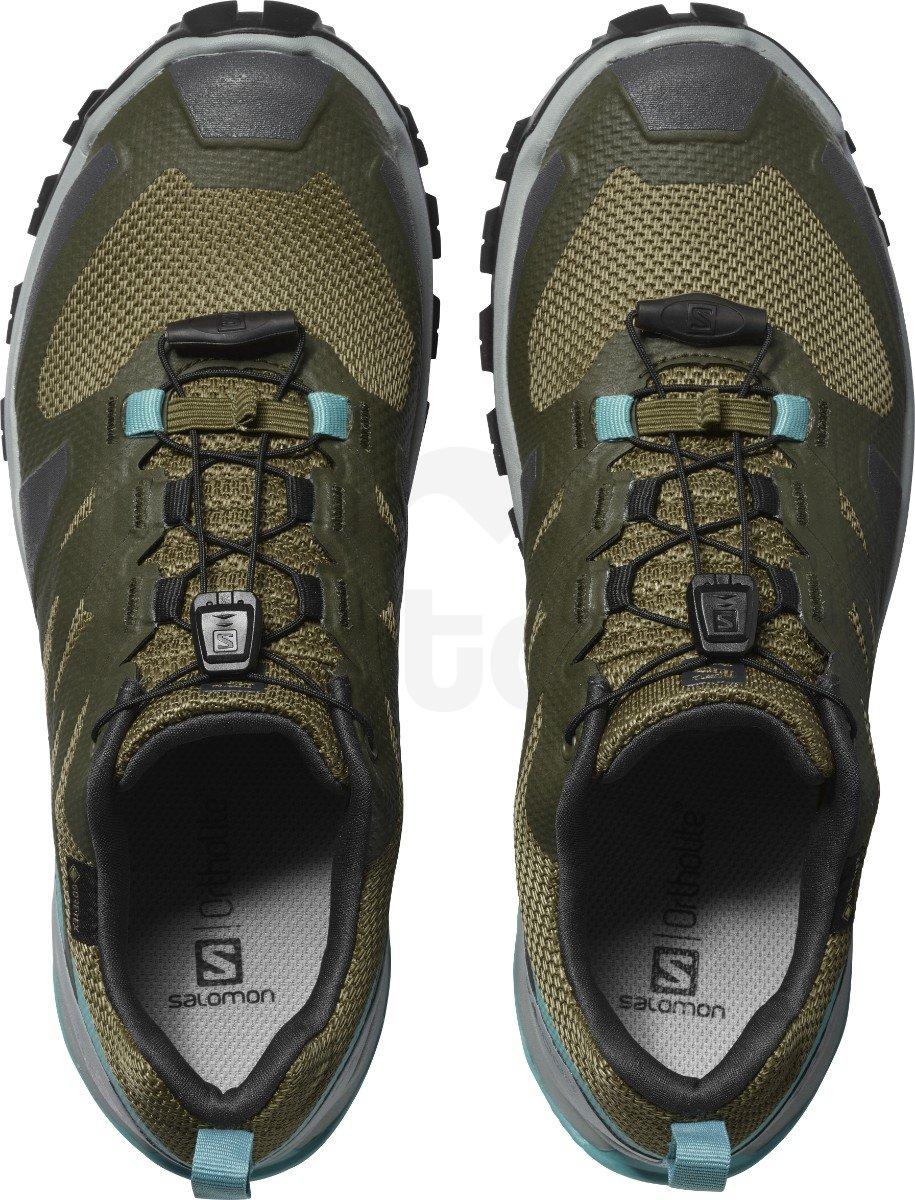 Obuv Salomon XA ROGG GTX W - tmavě zelená/modrá