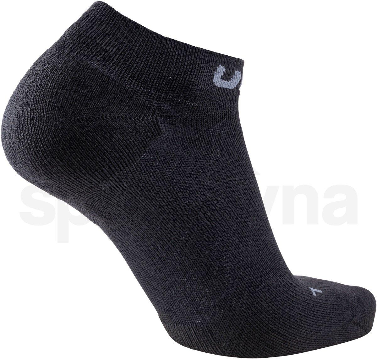 Ponožky UYN Trainer No Show Socks M - černá/šedá