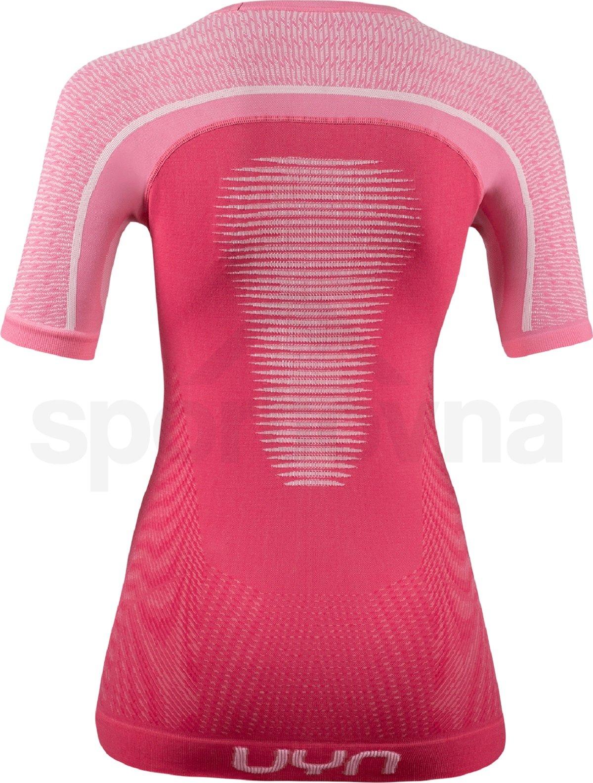 Funkční tričko UYN Marathon Ow Shirt Sh_Sl W - růžová/bílá