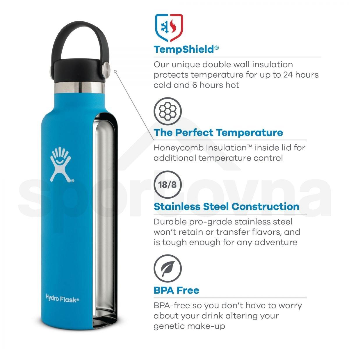 Láhev Hydro Flask Standard Mouth 21 oz - šedá
