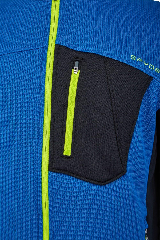 Svetr Spyder BANDIT FZ - modrá/černá
