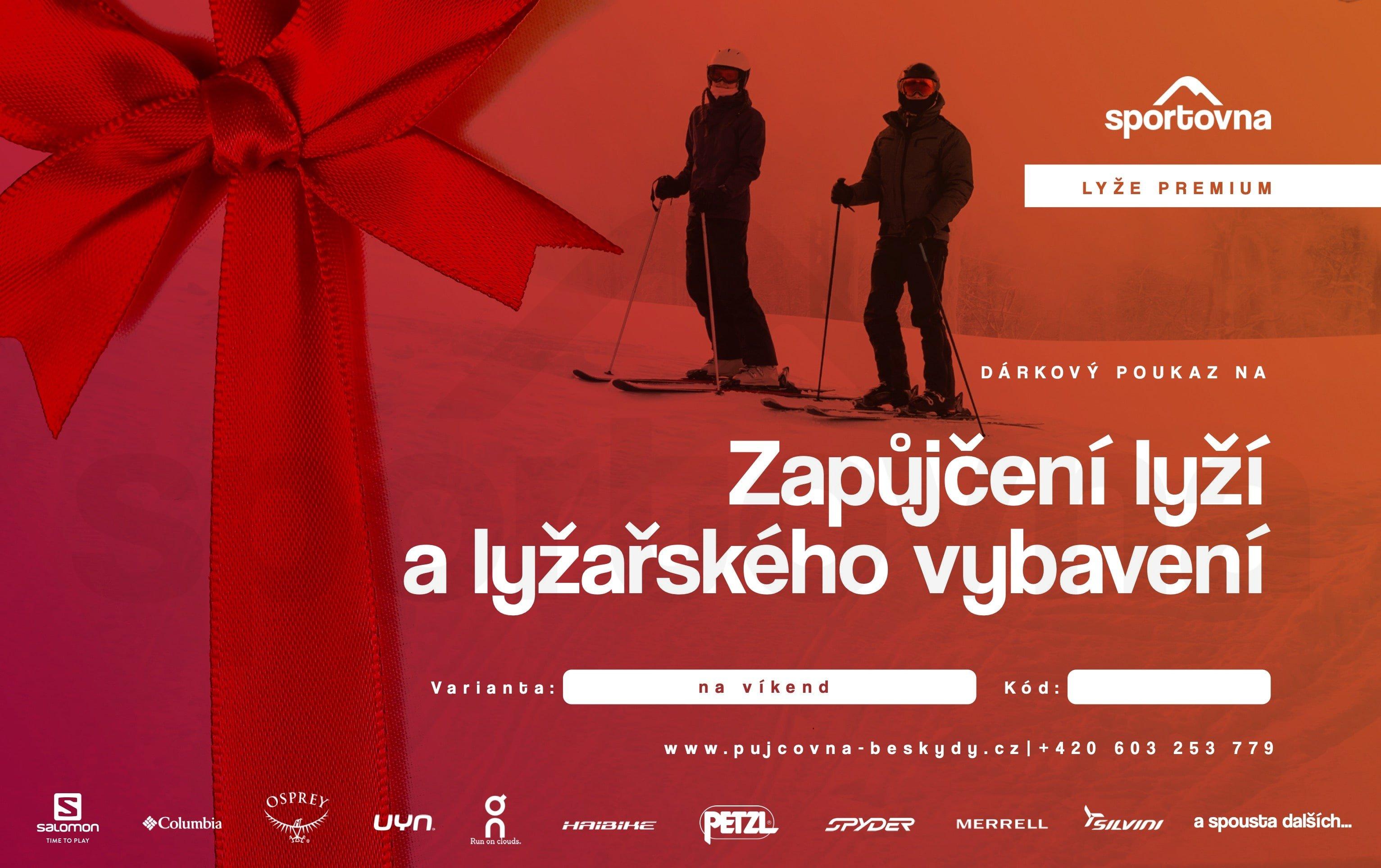 Poukaz na zapůjčení lyží a lyžařského vybavení - den
