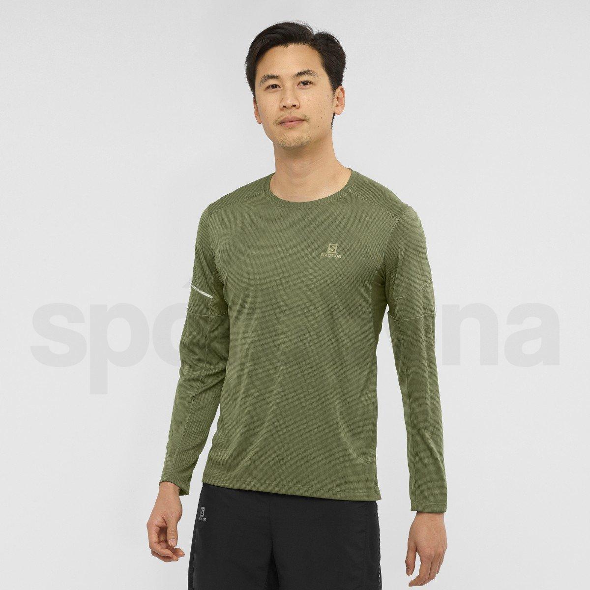 Tričko Salomon AGILE LS TEE M - zelená