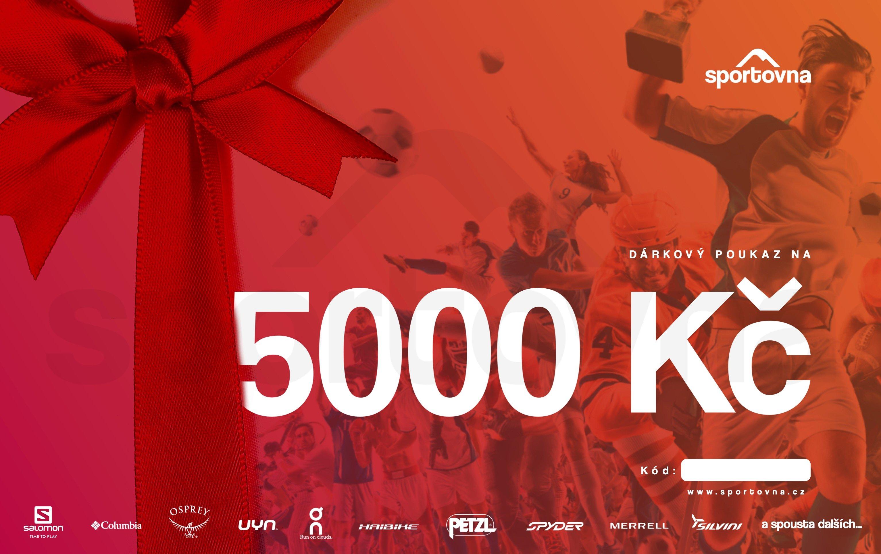 Poukaz 5000 Kč na nákup na eshopu sportovna.cz