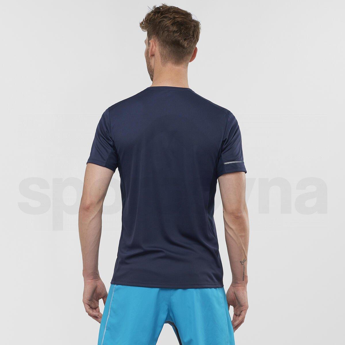Tričko Salomon AGILE HZ SS TEE M - modrá
