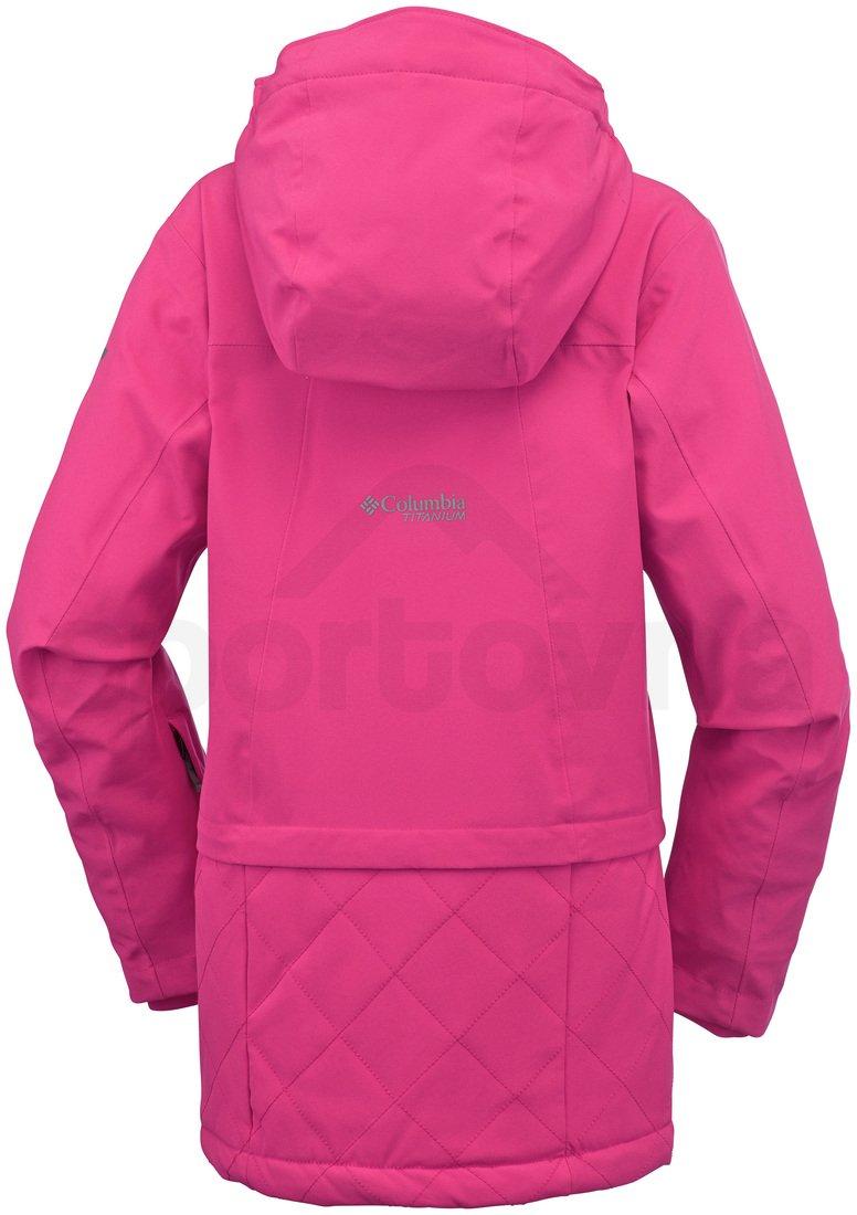 Bunda Columbia EmPOWder™ Jacket Y - růžová