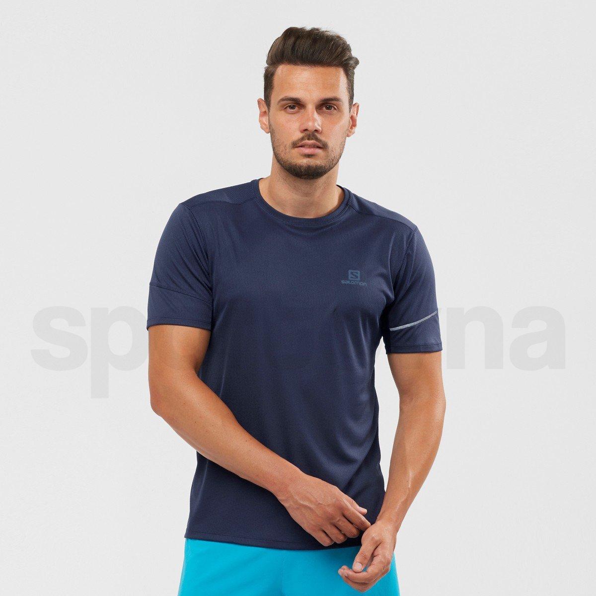 Tričko Salomon AGILE SS TEE M - modrá
