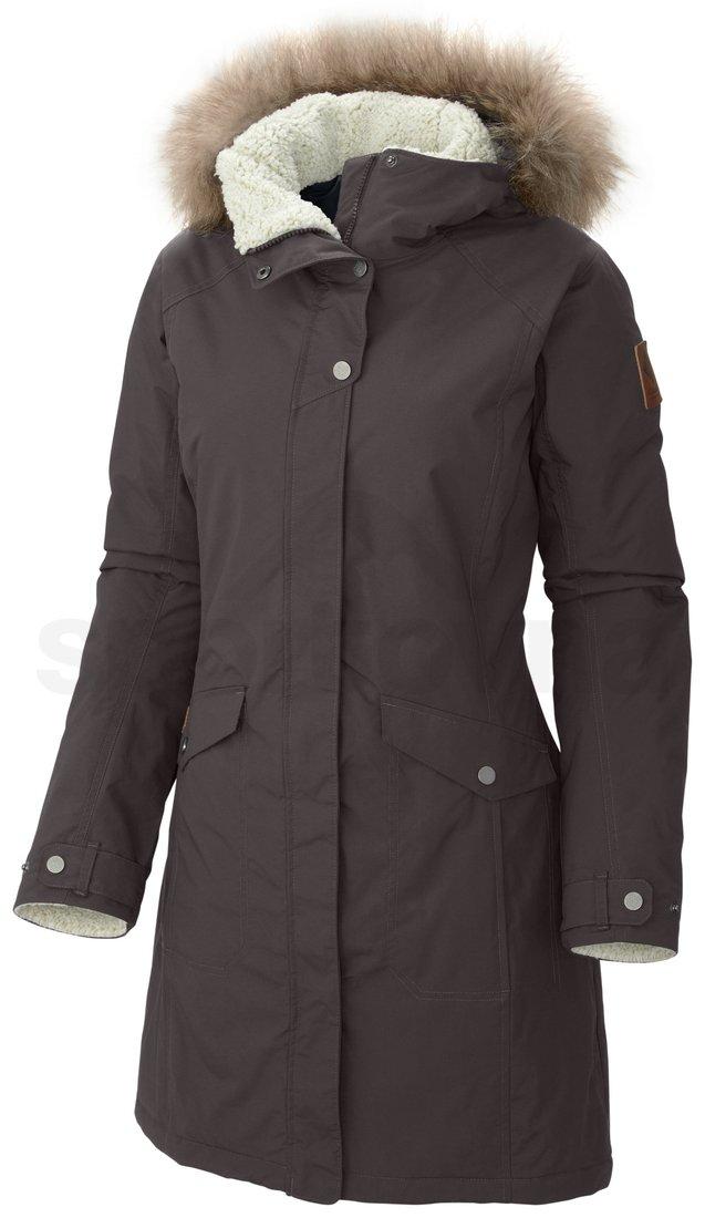 Kabát Columbia Grandeur Peak Long Jacket W - hnědá