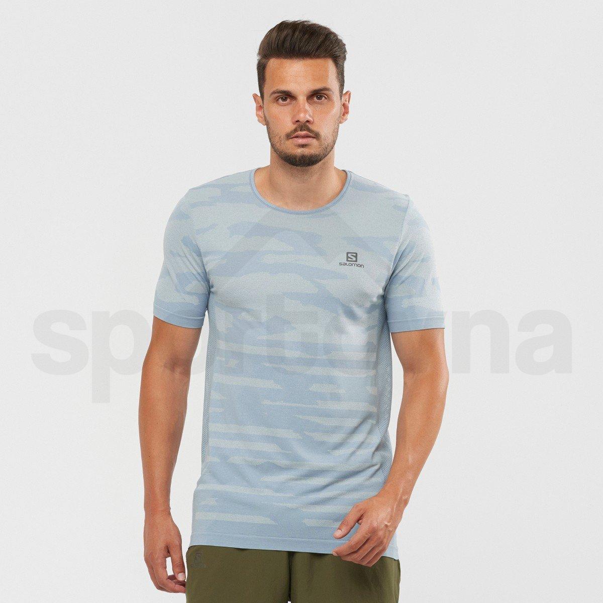 Tričko Salomon XA CAMO TEE M - světle modrá