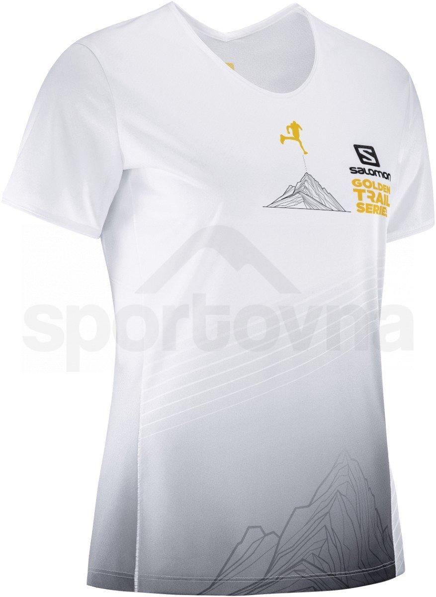 Tričko Salomon SENSE TEE W - bílá/šedá