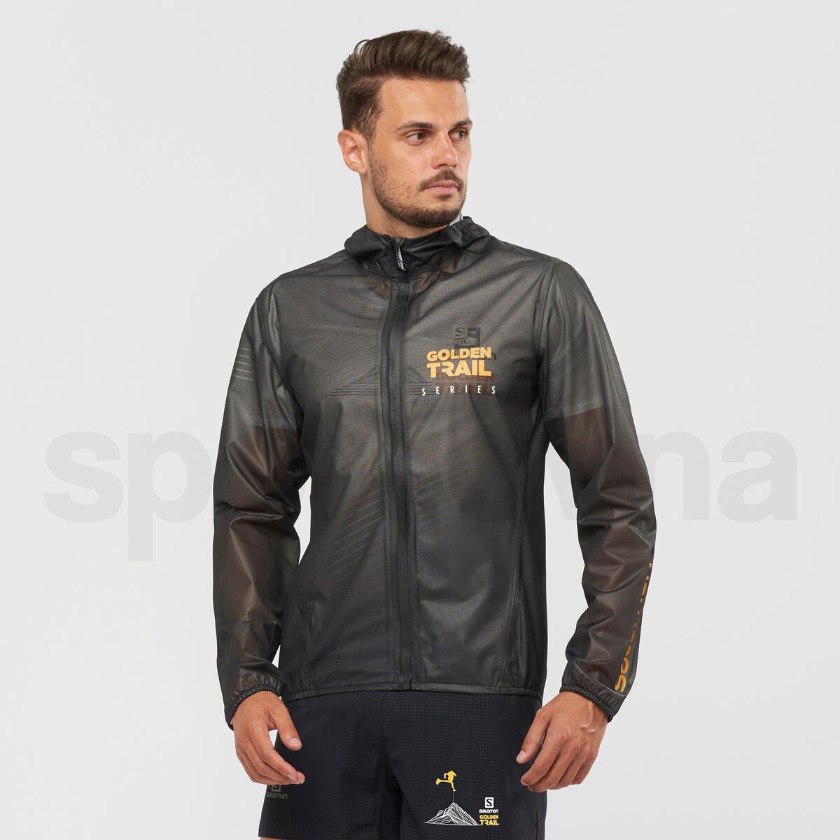 Bunda Salomon BONATTI RACE WP JKT M Golden Trail - černá