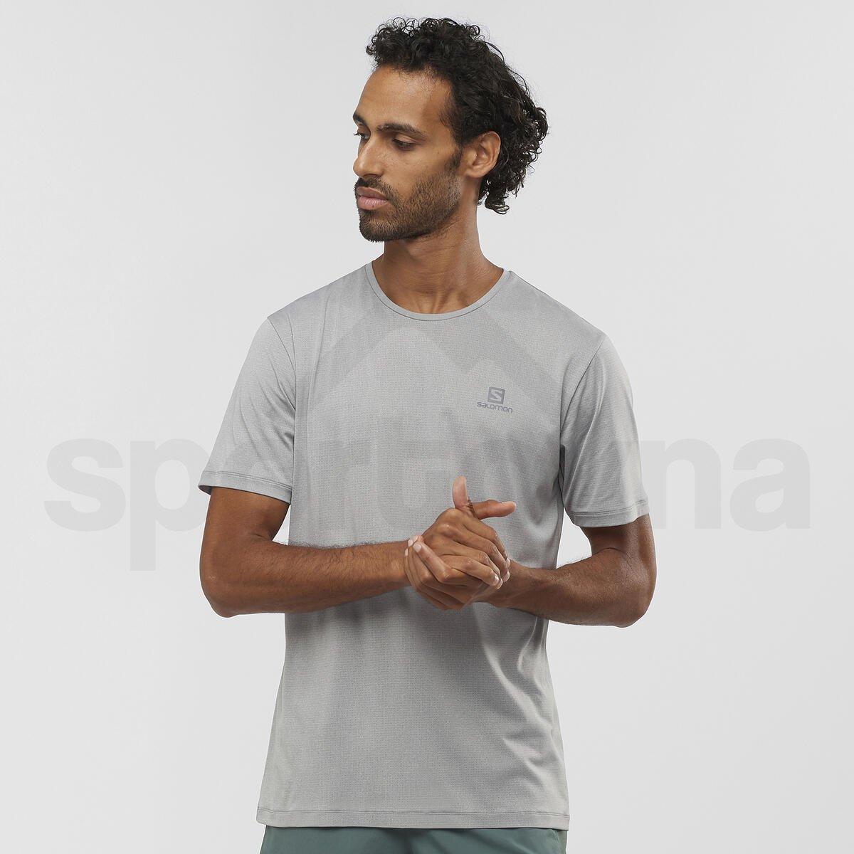 Tričko Salomon AGILE TRAINING TEE M - světle šedá