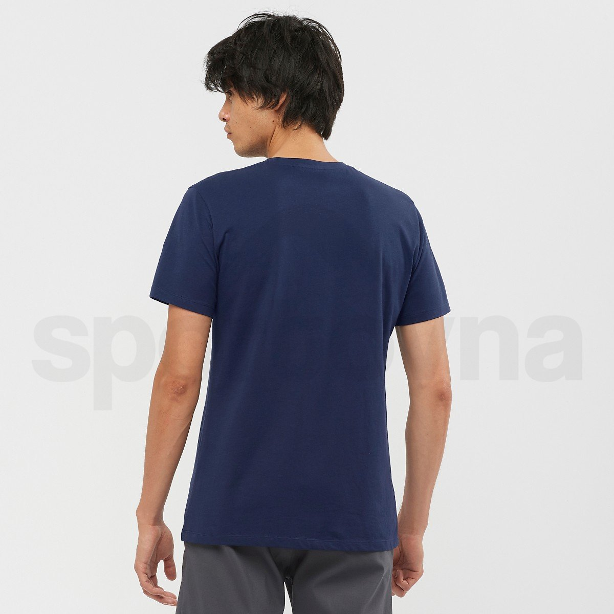Tričko Salomon COTTON TEE M - tmavě modrá