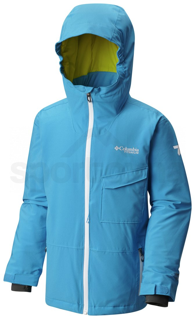 Bunda Columbia EmPOWder Jacket Y - modrá