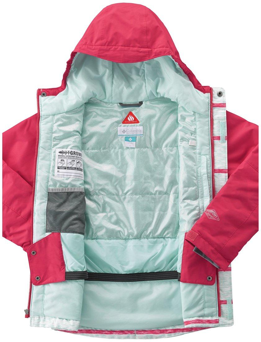 Bunda Columbia Slope Star™ Jacket Y - světle zelená/červená