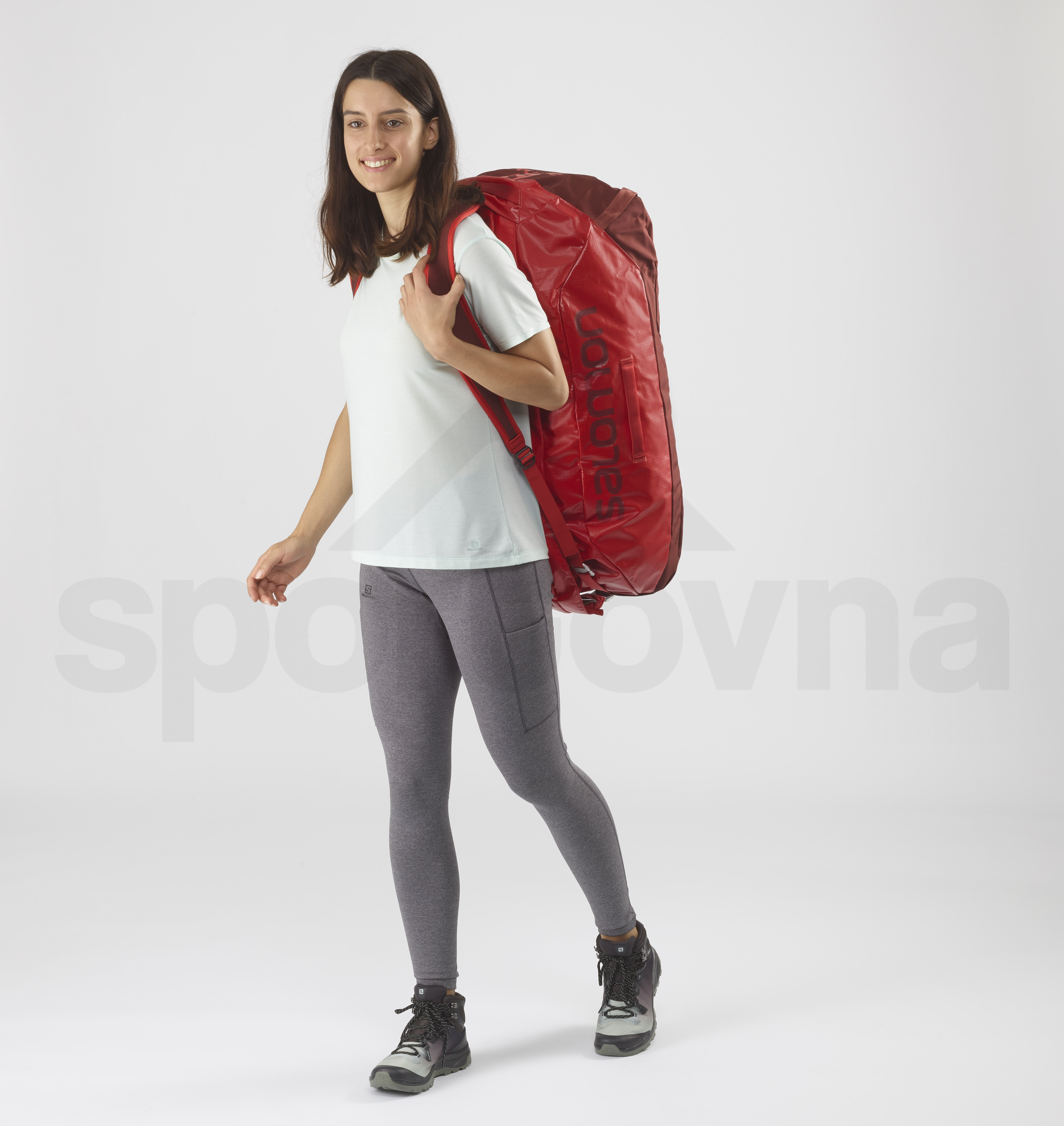 Cestovní taška Salomon OUTLIFE DUFFEL 70 - červená