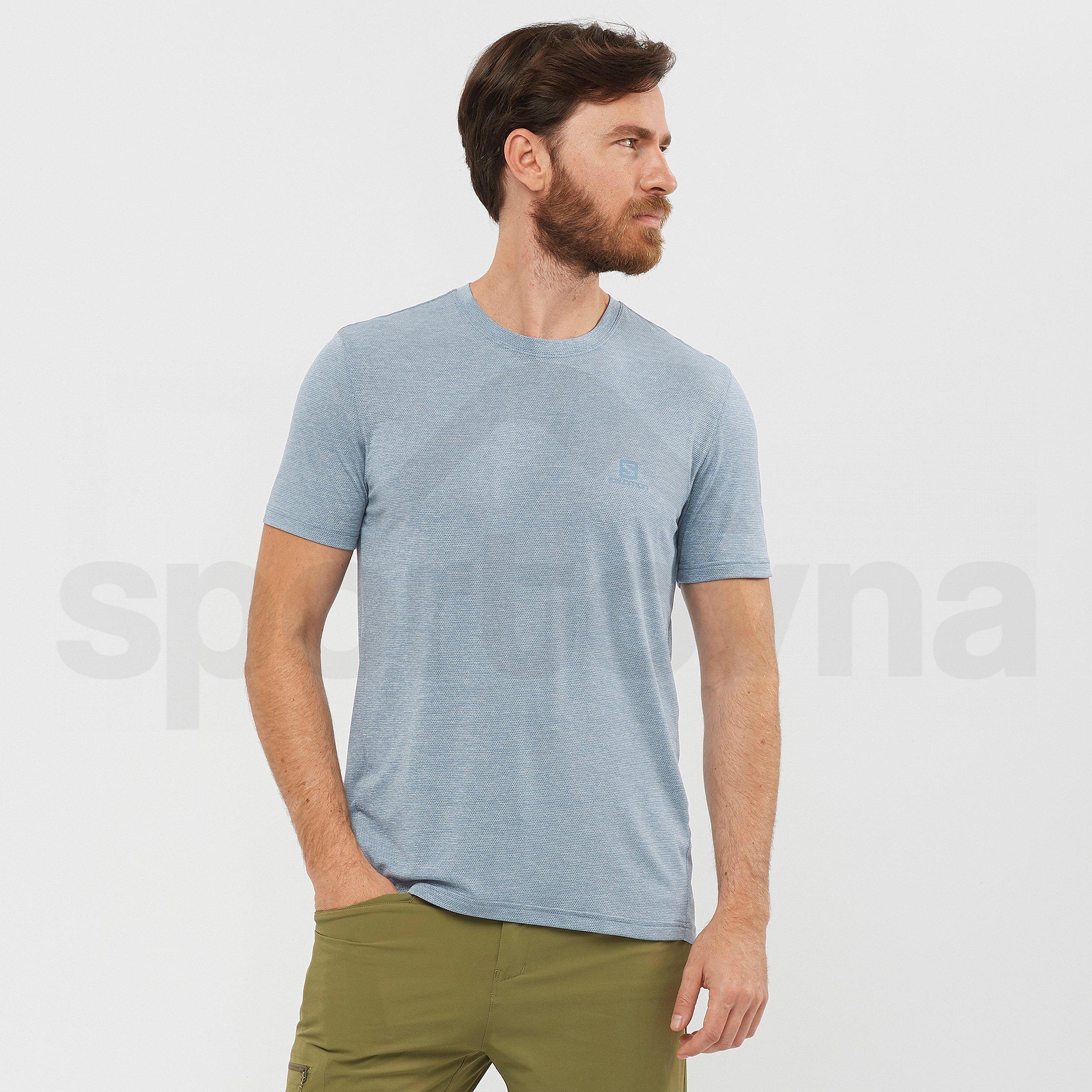 Tričko Salomon Explore Pique Tee M - modrá