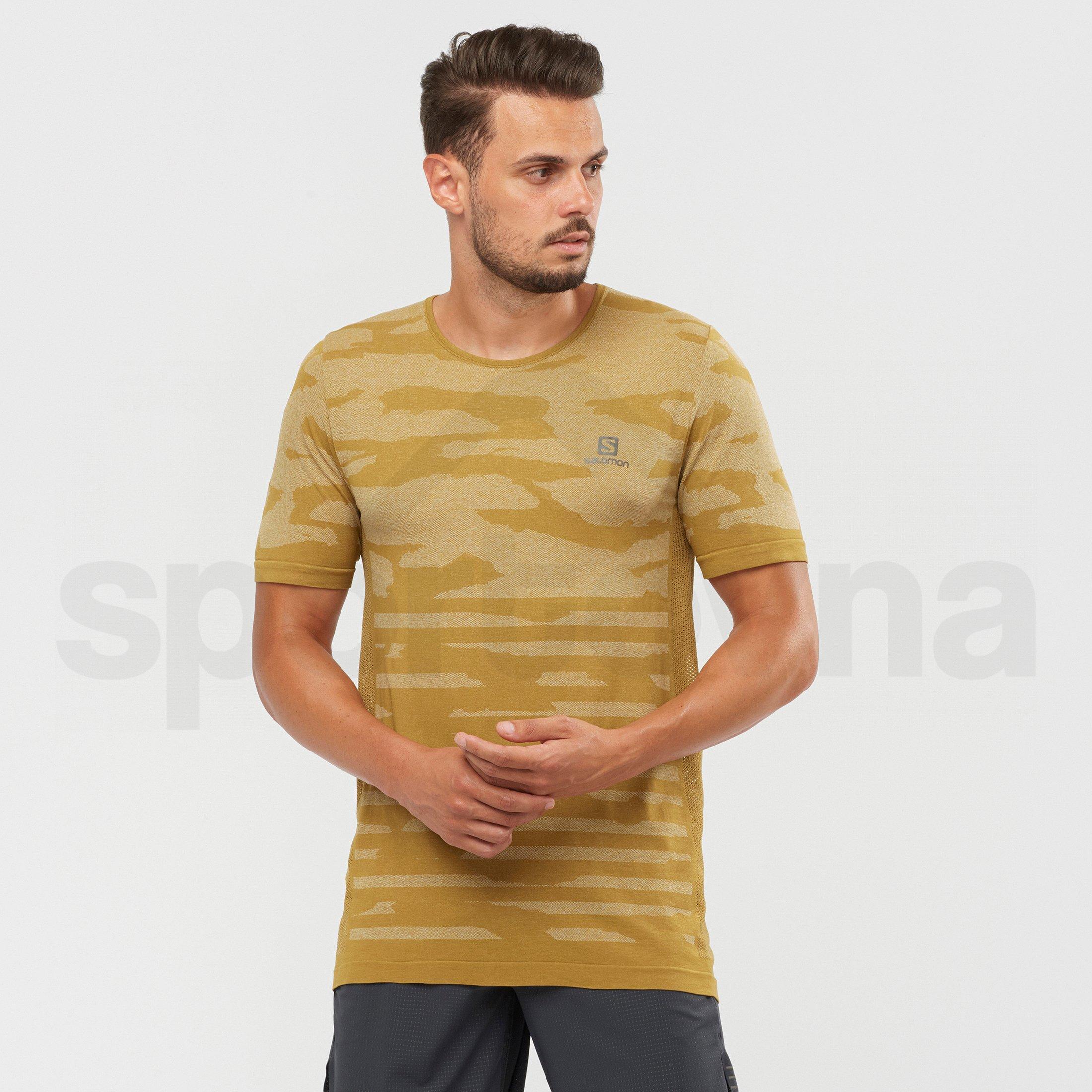 Tričko Salomon XA Camo Tee M - hnědá
