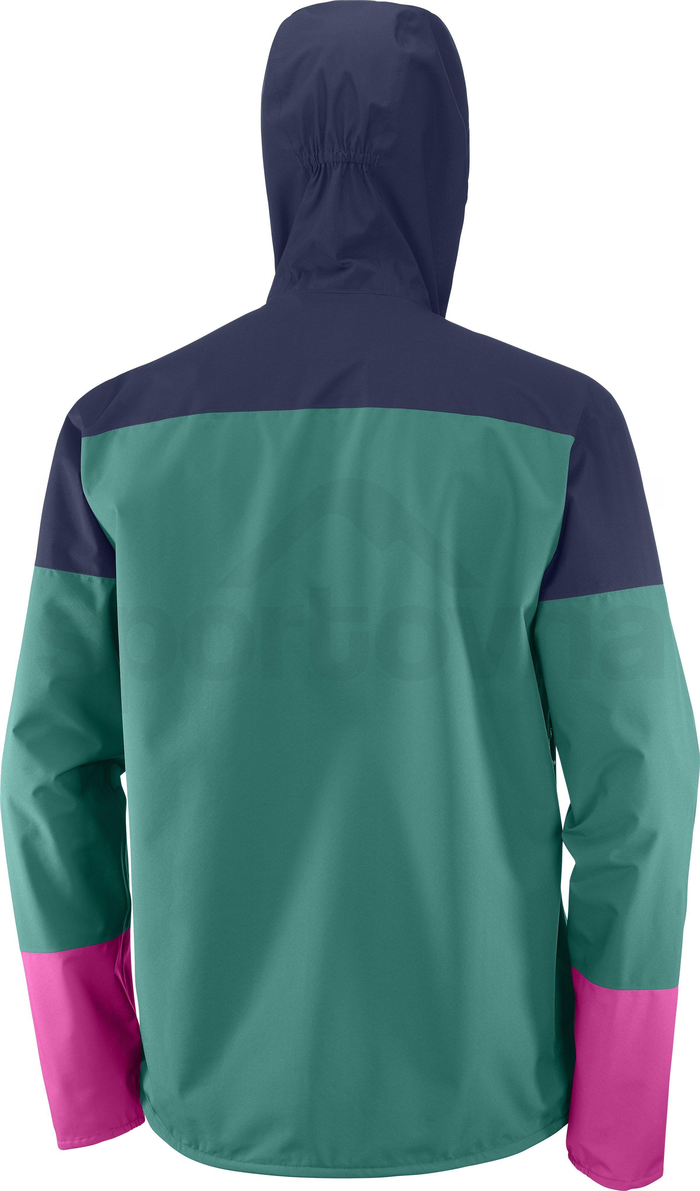 Bunda Salomon XA 2.5L Waterproof Jacket M - modrá/zelená