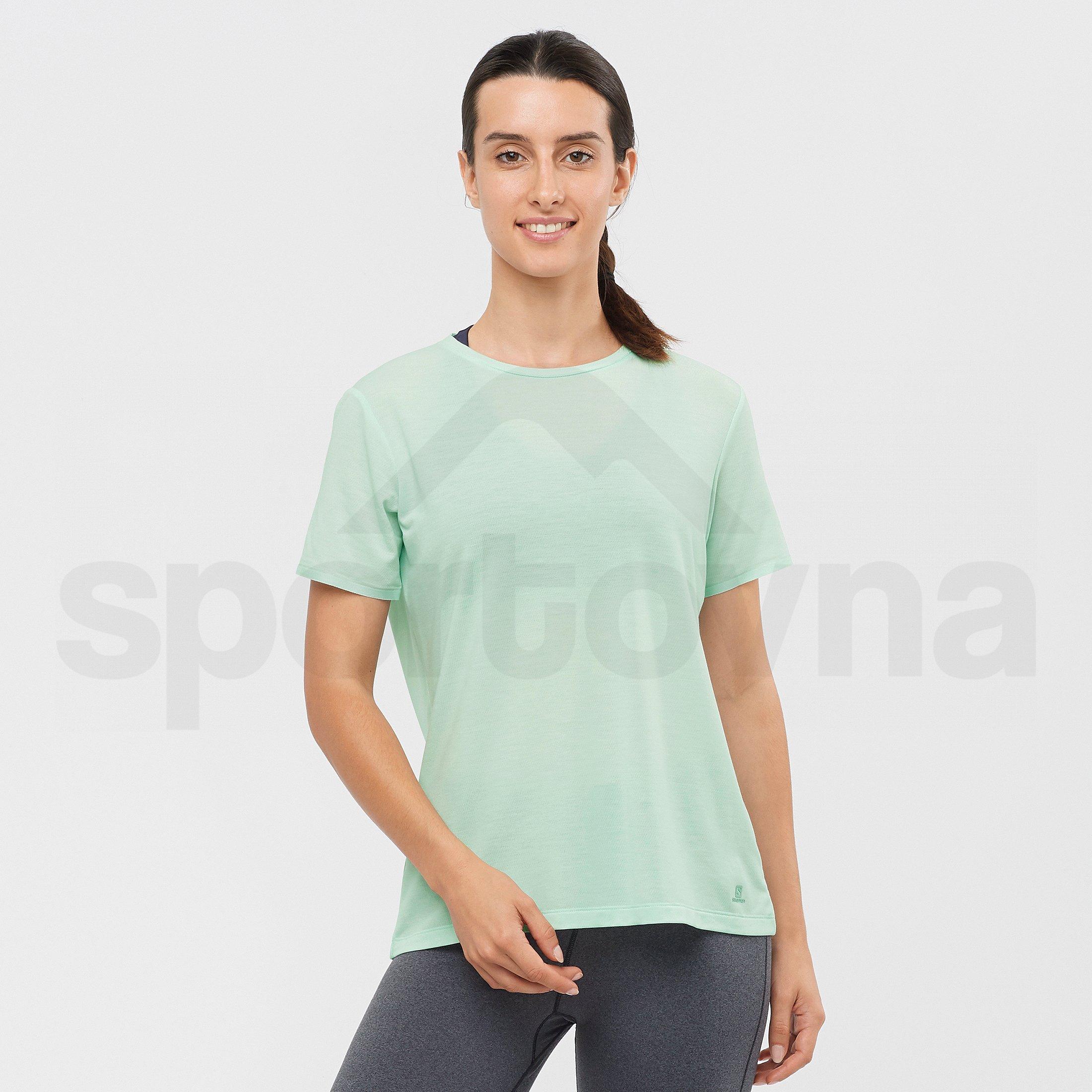 Tričko Salomon Esential SS Tee W - zelená