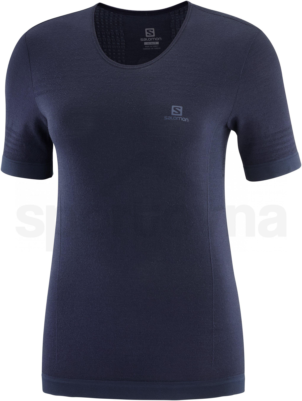Tričko Salomon Outspeed Wool Seamless SS W - modrá