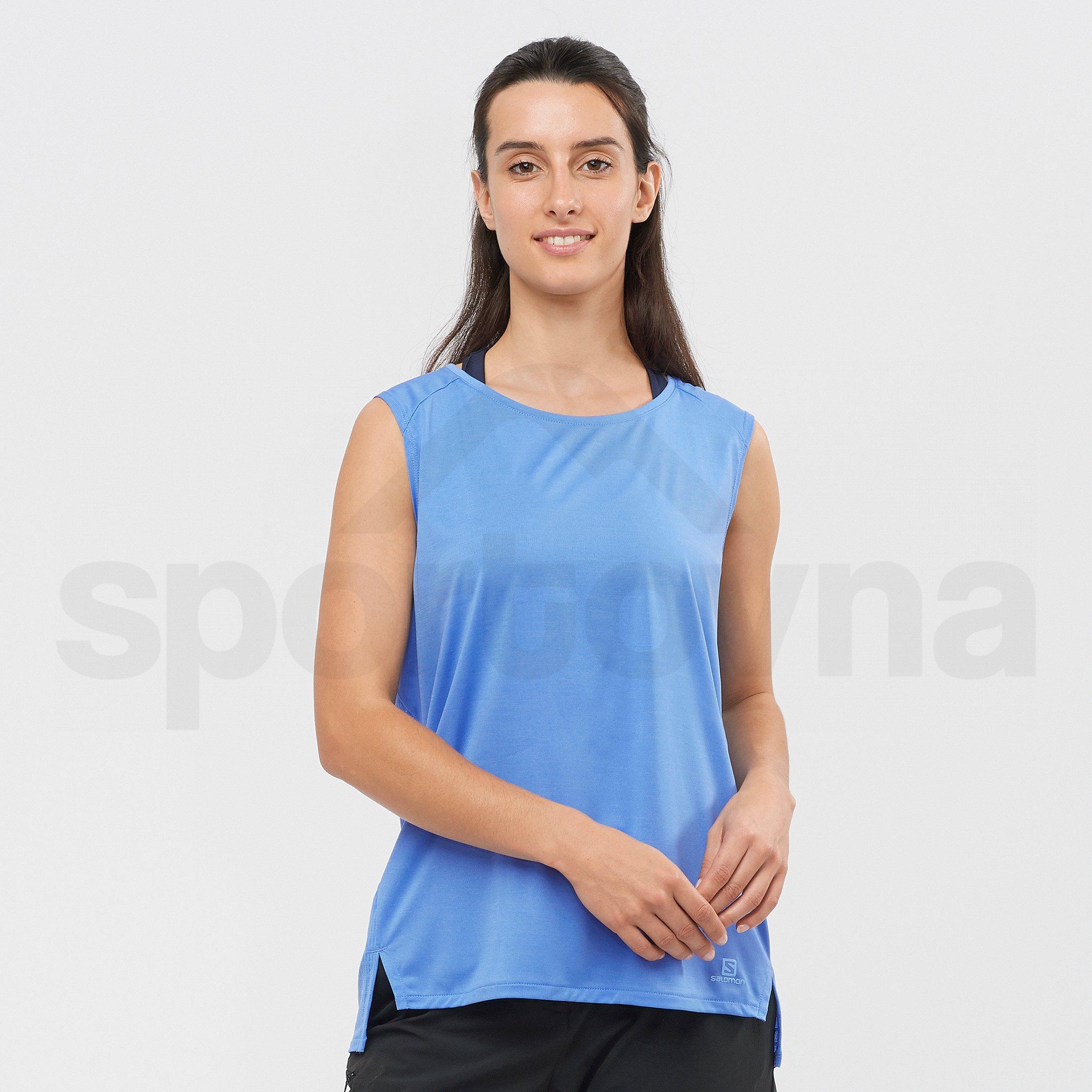Tričko Salomon Outline Summer Tank W - modrá