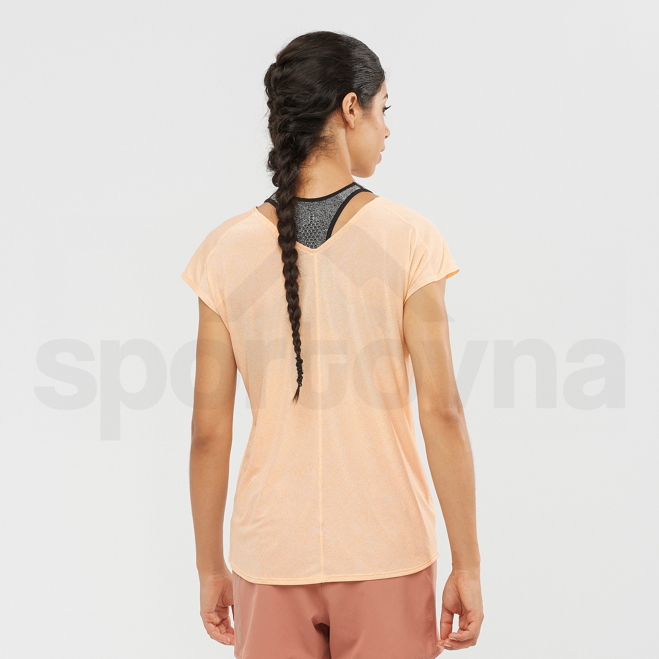 Tričko Salomon XA SS Tech Tee W - krémová