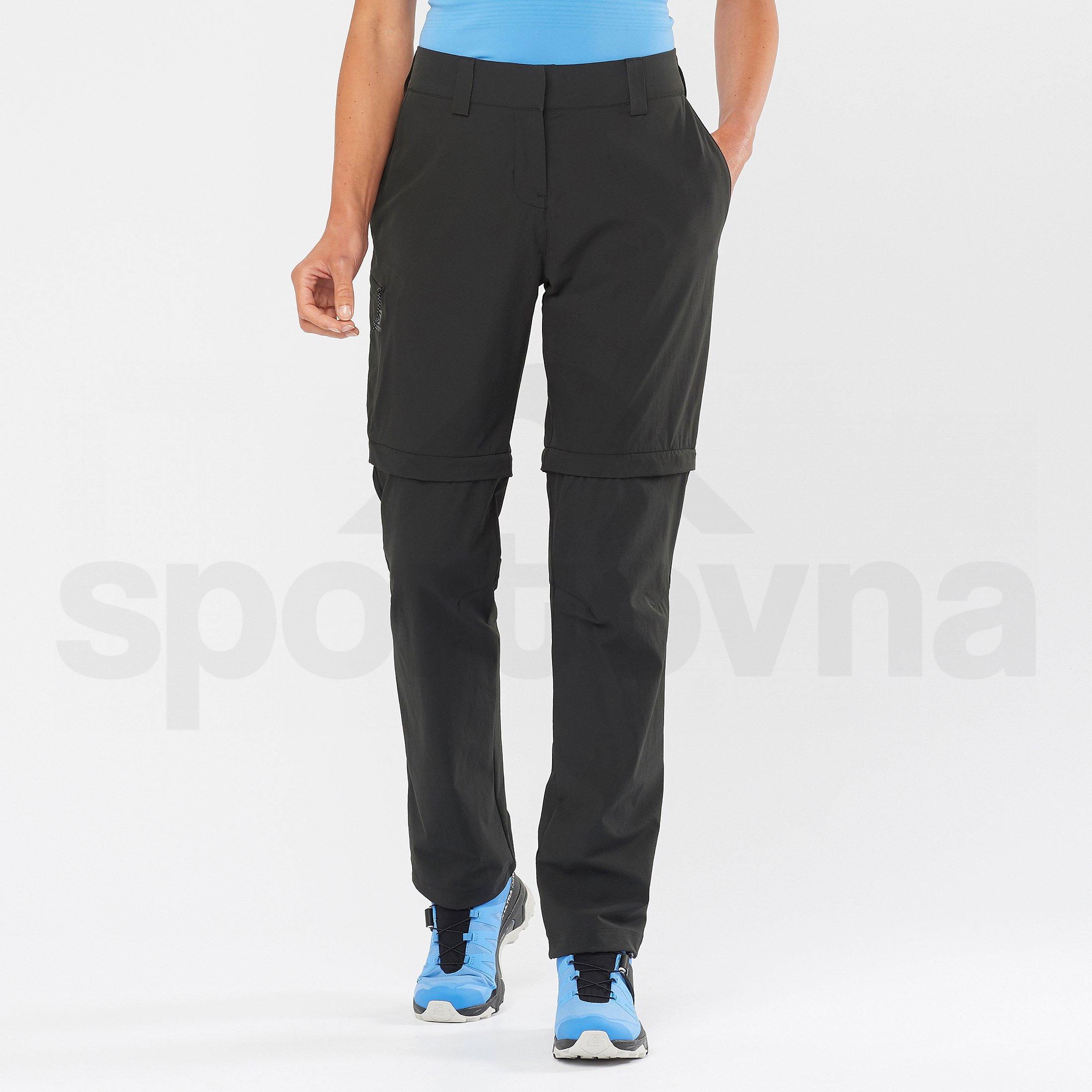 Kalhoty Salomon Wayfarer Zip Off Pant W - černá