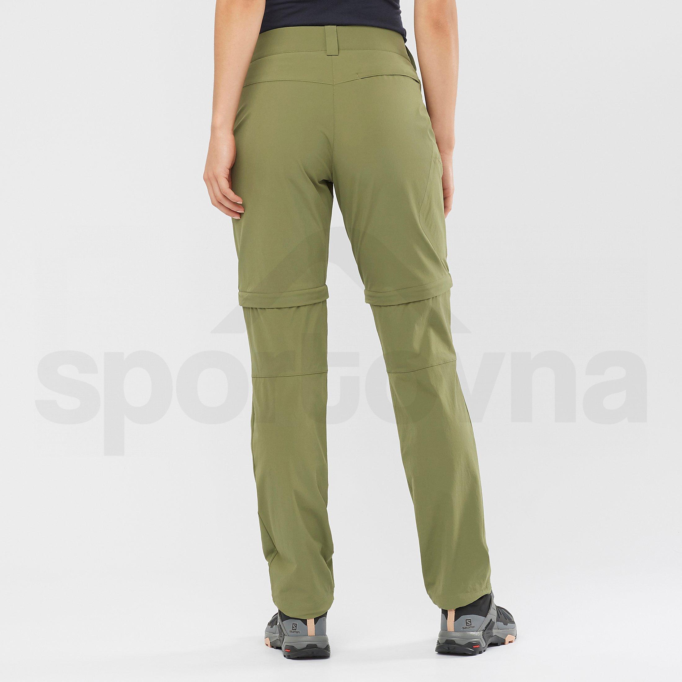 Kalhoty Salomon Wayfarer Zip Off Pant W - zelená