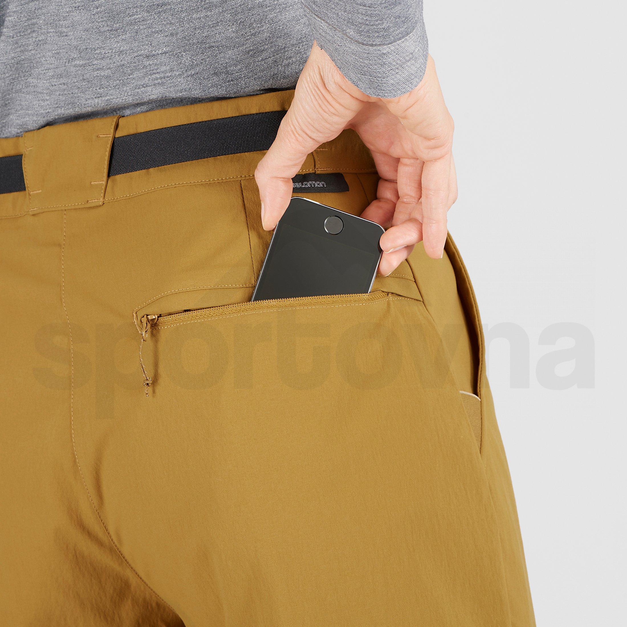 Kalhoty Salomon Outrack High Pants W - žlutá