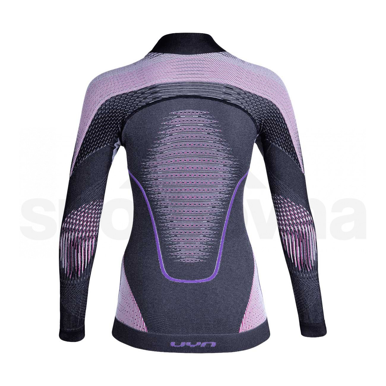 UYN dámské triko EVOLUTYON UW SHIRT LG_SL.TURTLE Anthracite melange/Raspberry/purple