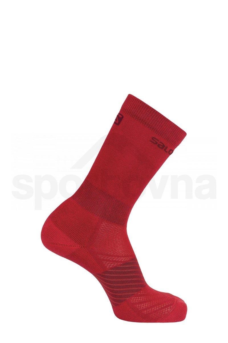 Ponožky Salomon XA 2-PACK J - červená/černá