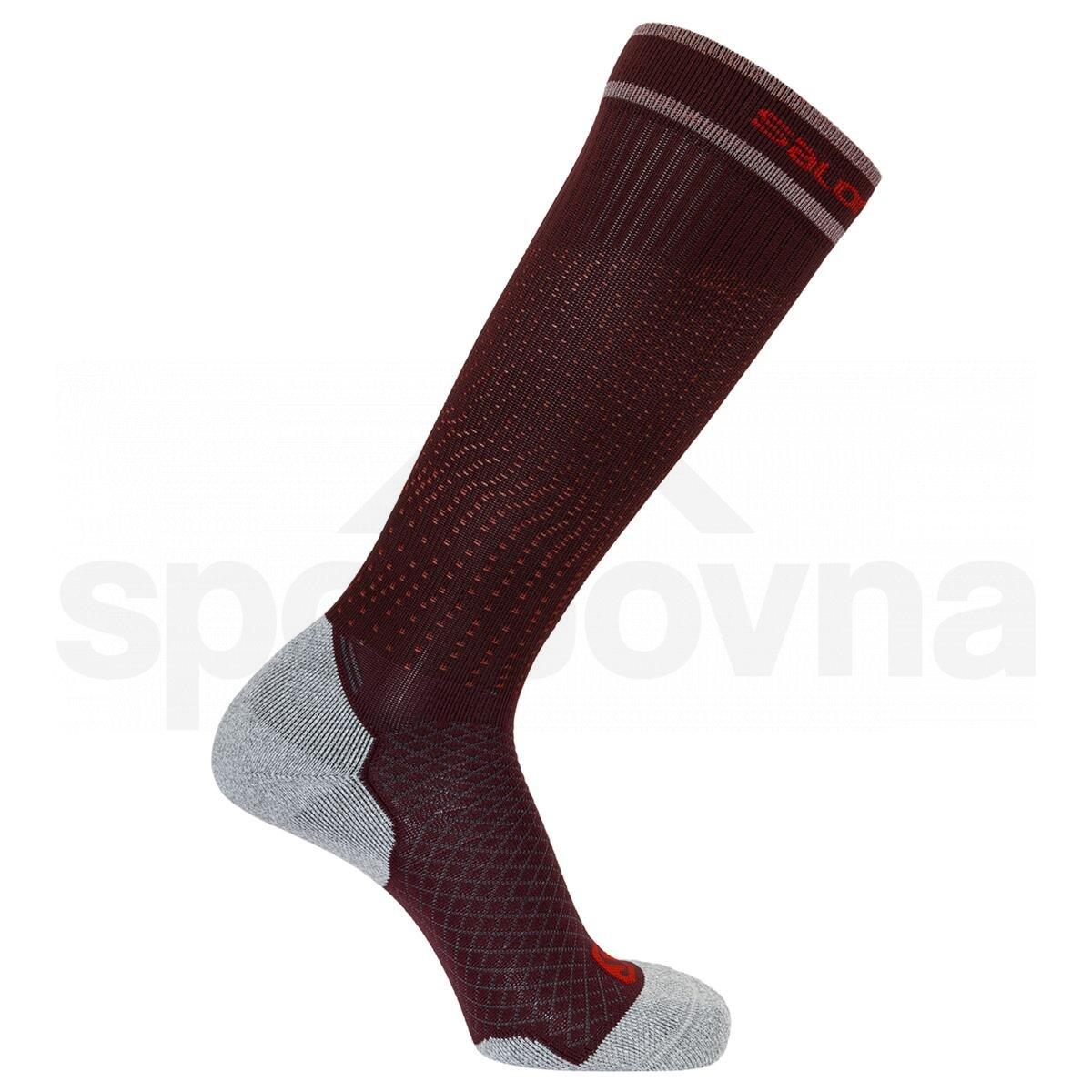 Ponožky Salomon COOLPRESSION - červená