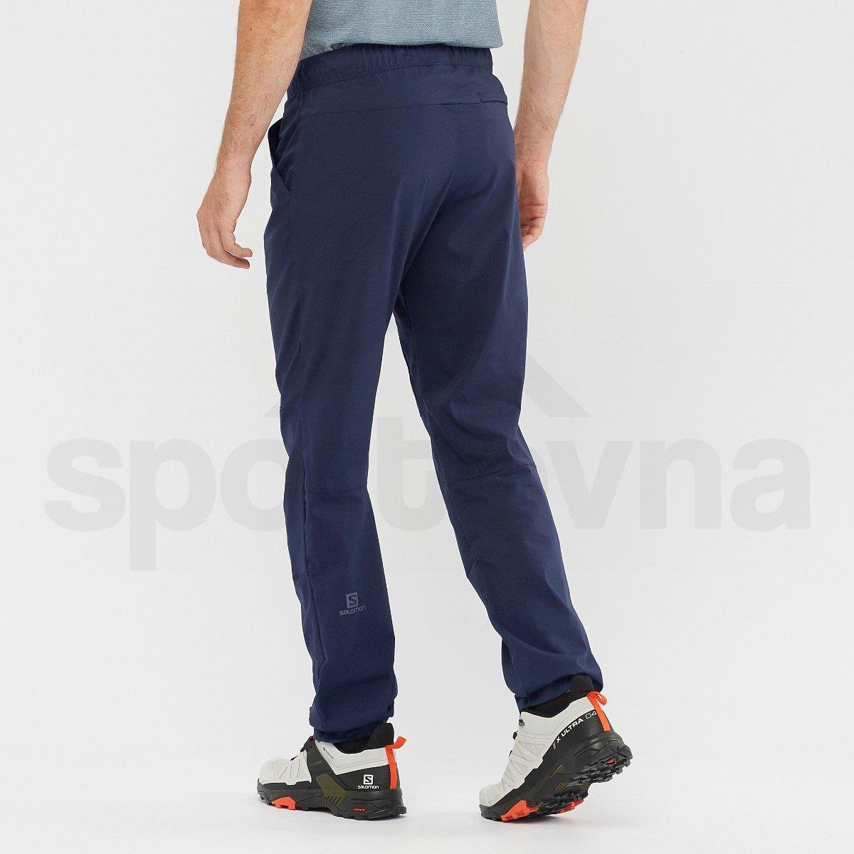 Kalhoty Salomon EXPLORE TAPERED PANTS M - modrá