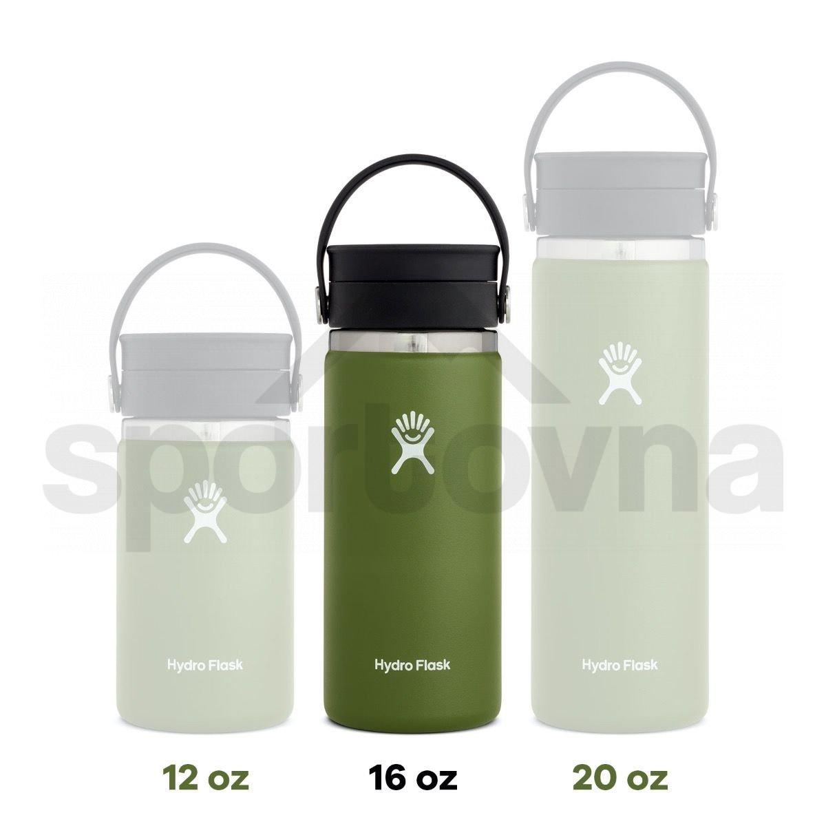 Termohrnek Hydro Flask Coffee Wide Mouth Flex Sip Lid 16 oz - bílá