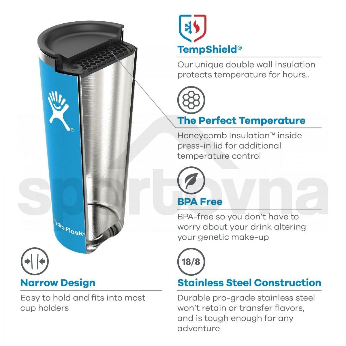 Kelímek Hydro Flask Tumbler 16 oz - bílá