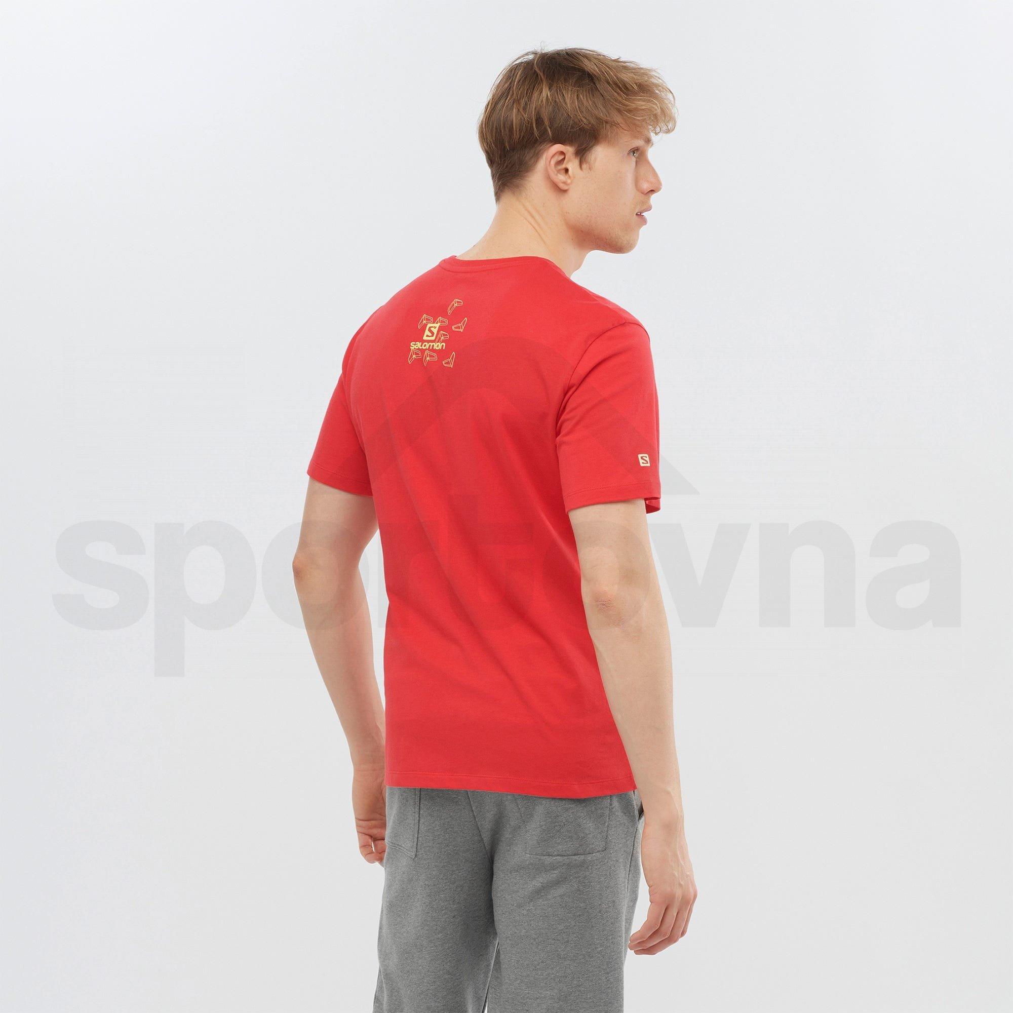 Tričko Salomon OUTLIFE GRAPHIC BLUEPRINT M - červená