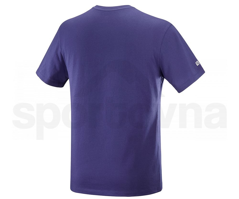 Tričko Salomon OUTLIFE LOGO SS TEE M - tmavě modrá