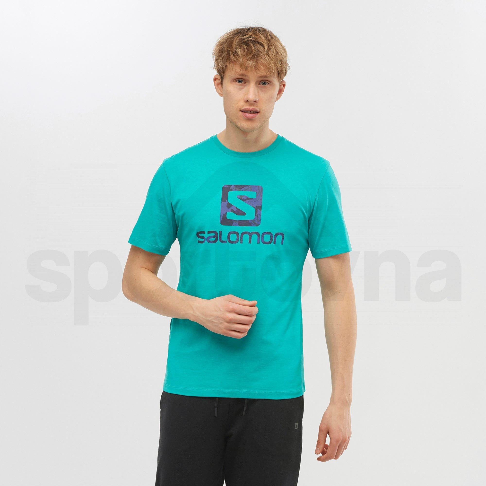 Tričko Salomon OUTLIFE LOGO SS TEE M - modrá