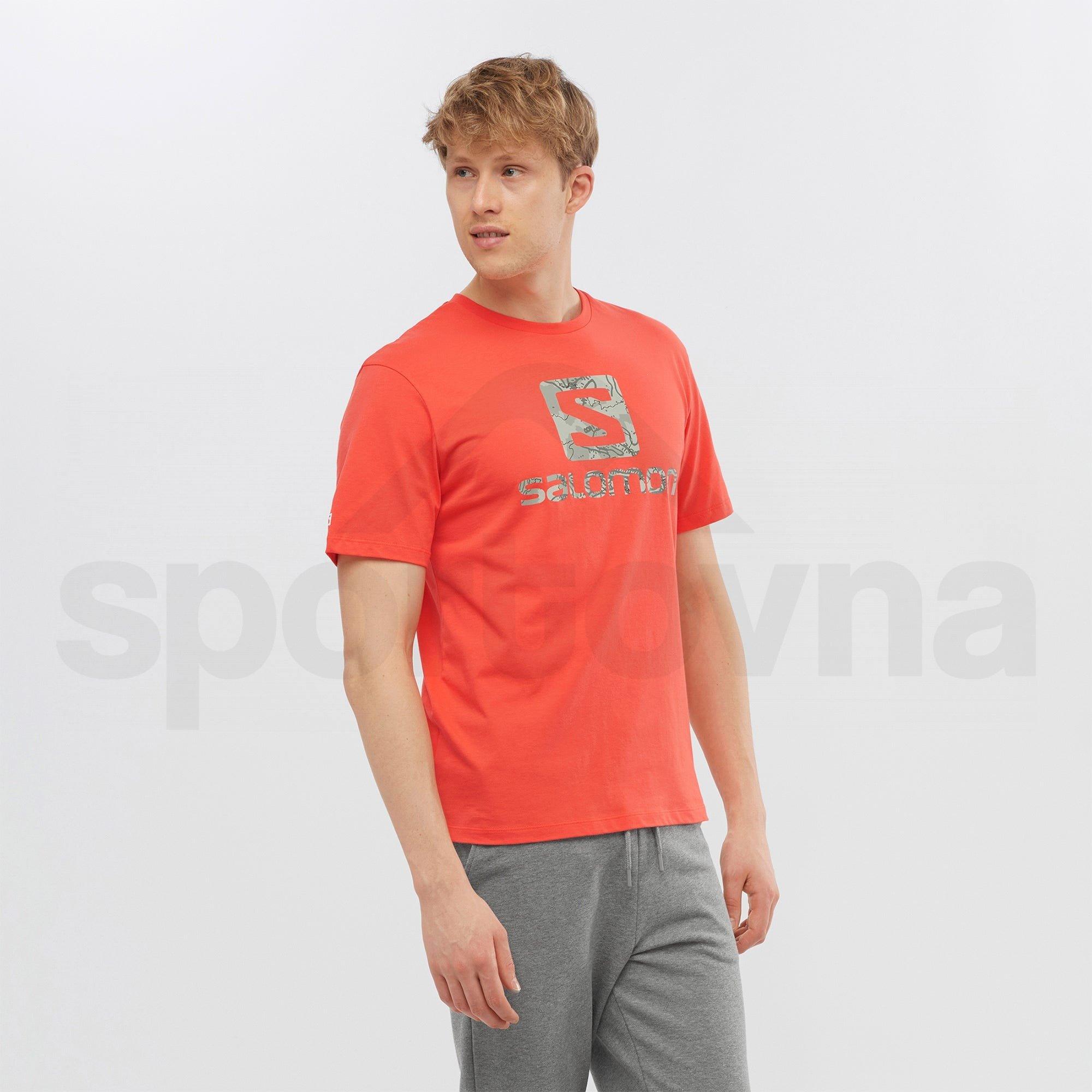 Tričko Salomon OUTLIFE LOGO SS TEE M - červená