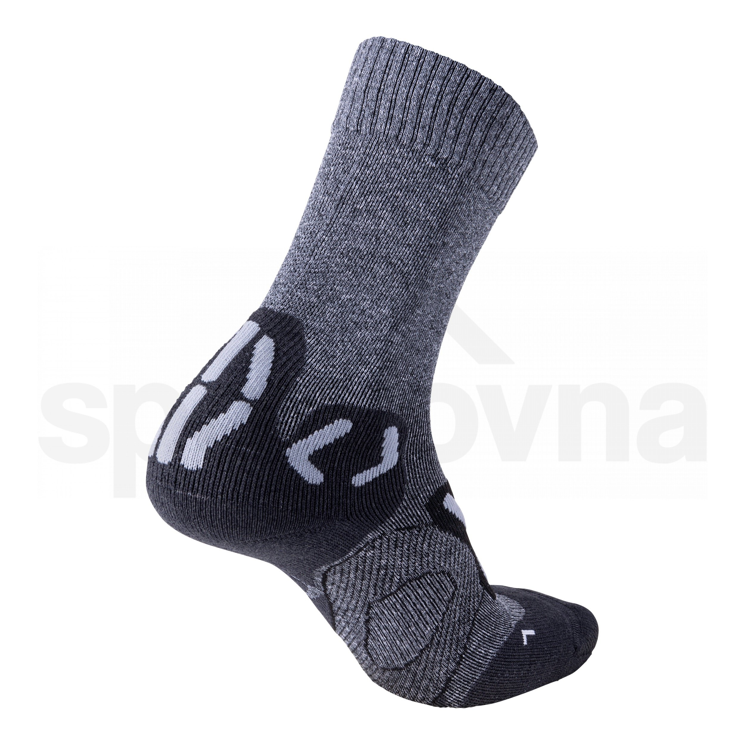 Dámské ponožky UYN TREKKING OUTDOOR EXPLORER MID- grey melange/pearl grey