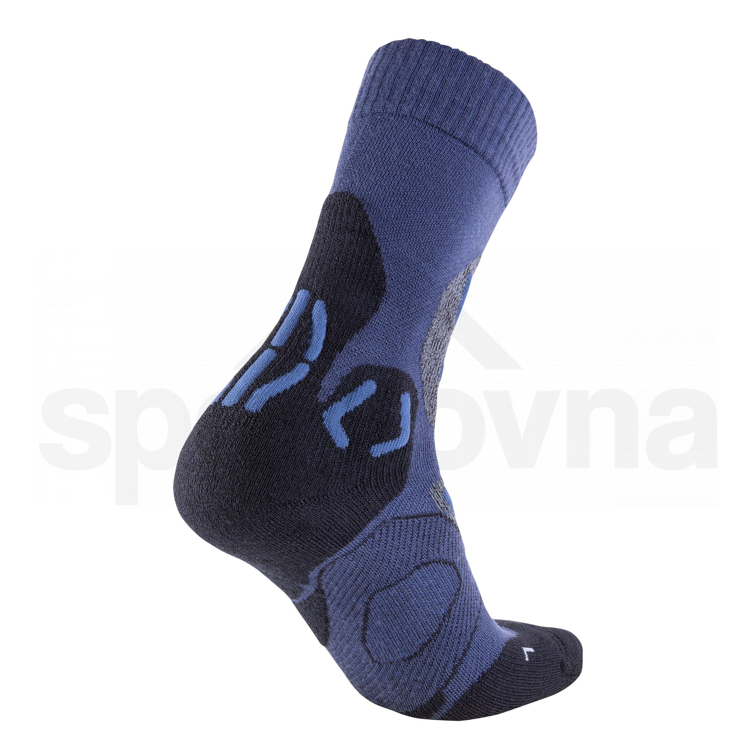 Pánské ponožky UYN TREKKING COOL MERINO - modrá/černá