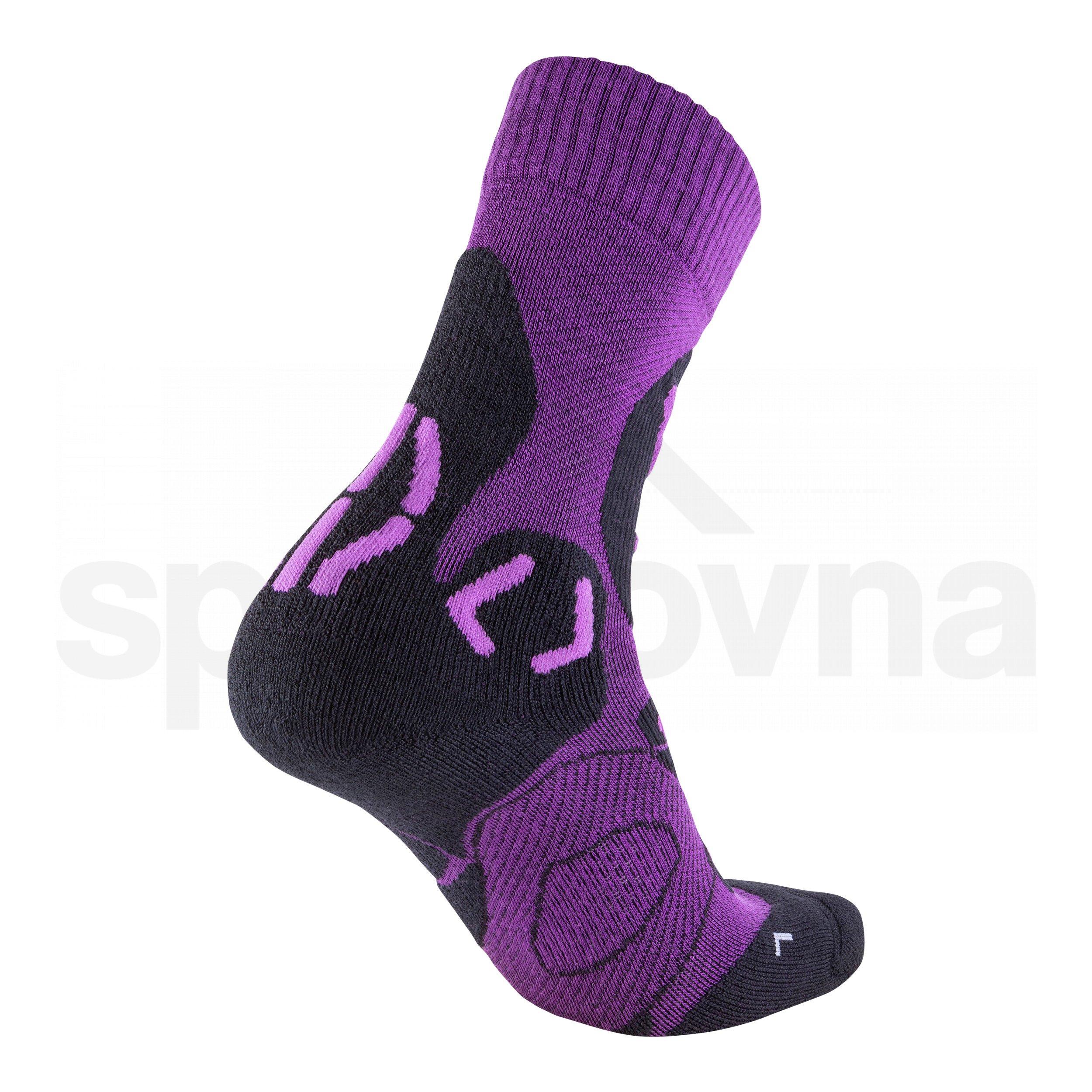 Dámské ponožky UYN TREKKING COOL MERINO - fialová/černá
