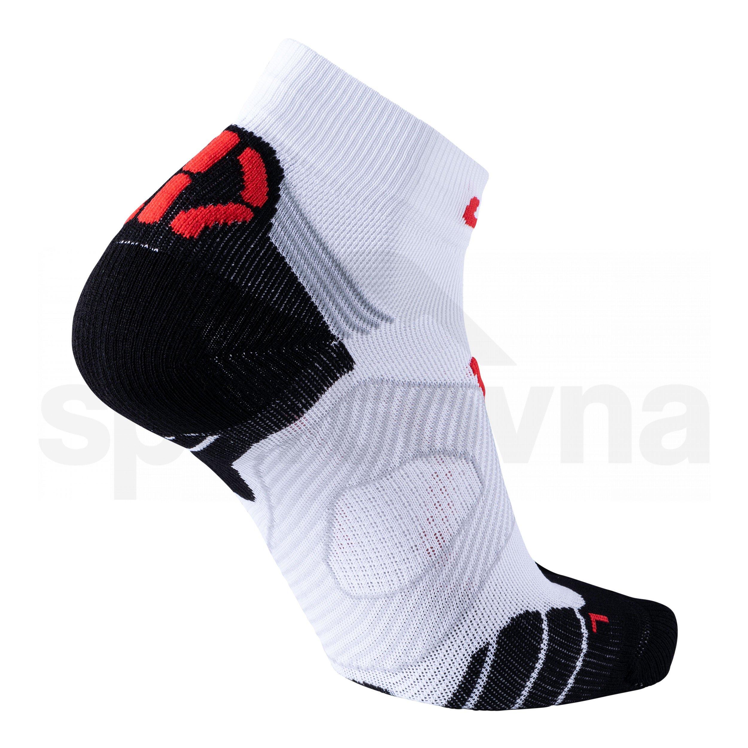 Pánské ponožky UYN RUN SUPER FAST SOCKS - bílá/červená